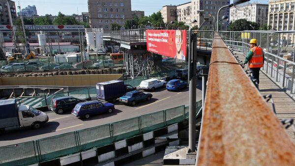 Строительство новой транспортной развязки в Москве