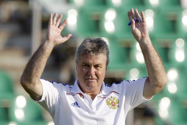 Гус Хиддинк. Тренировка сборной России по футболу