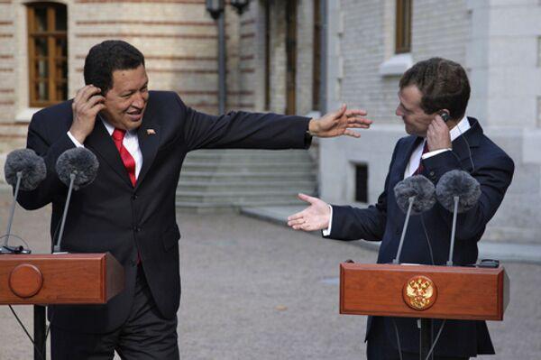 Президенты России и Венесуэлы Д.Медведев и У.Чавес в Подмосковье