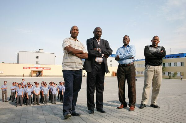 Полицейские из Африки во время обучения в России