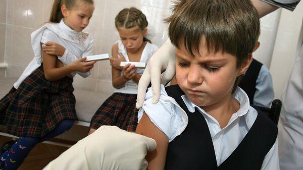 Вакцинация детей от гриппа. Архив