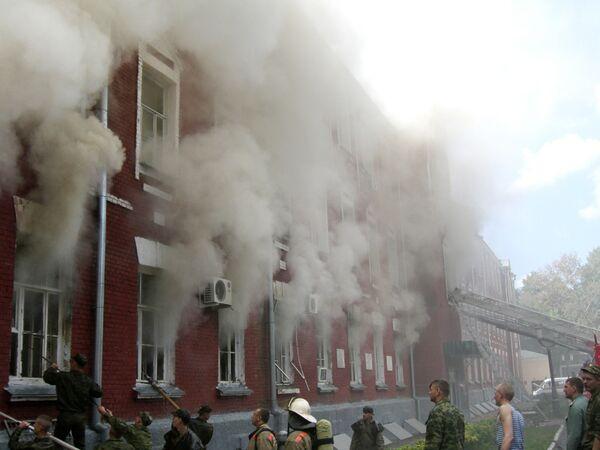 Пожар в штабе бригады спецназа ГРУ в Тамбове