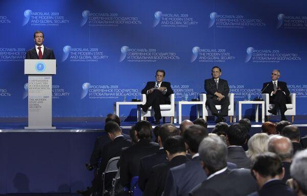 Президент РФ Д.Медведев принял участие в международной конфернеции Современное государство и глобальная безопасность