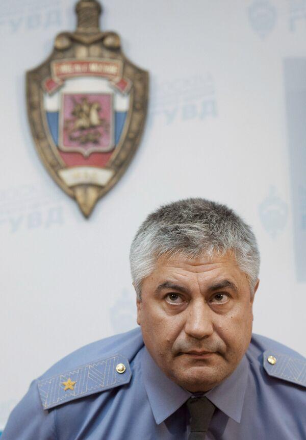 Начальник ГУВД по городу Москве генерал-майор милиции В.Колокольцев