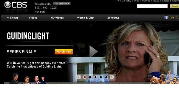 Скриншот сайта CBS с анонсом последнего эпизода сериала Путеводный свет