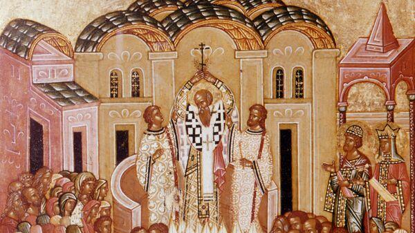Икона Воздвижение креста