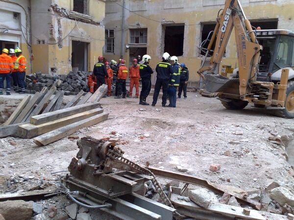 Обрушение здания в Праге