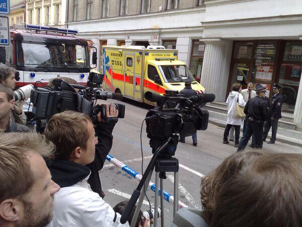 Обрушение здания в Праге. Фото с места событий