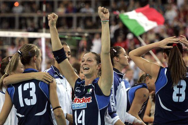 Волейболистки сборной Италии