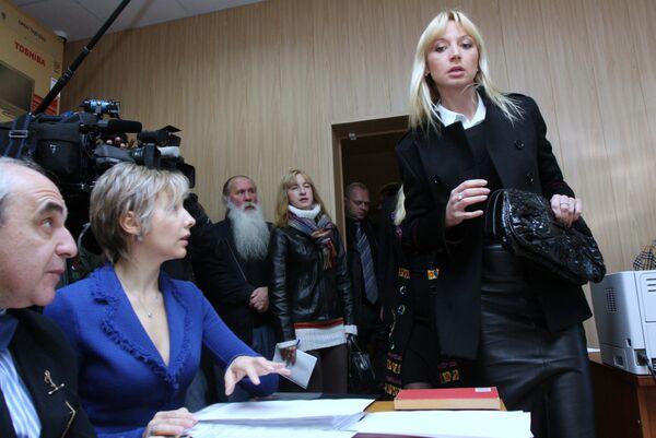 Певица Кристина Орбакайте в здании Тверского районного суда Москвы