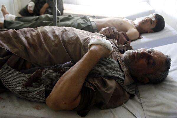 Пострадавшие в результате теракта у посольства Индии в Кабуле