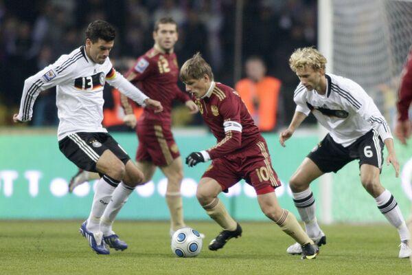 Футбол. Отборочный турнир чемпионата мира-2010: Россия-Германия
