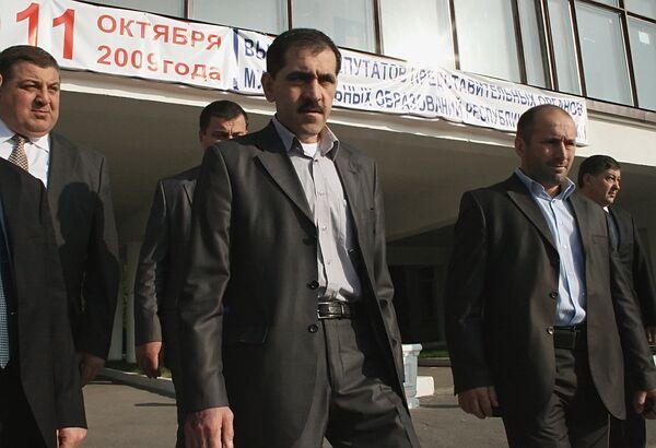 Президент Ингушетии Юнус-Бек Евкуров после голосования