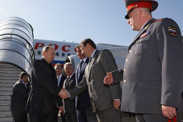 Премьер-министр РФ Владимир Путин прибыл во Владивосток