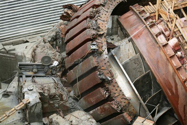 Восстановительные работы на Саяно-Шушенской ГЭС