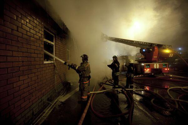 Пожар на территории бывшего Черкизовского рынка