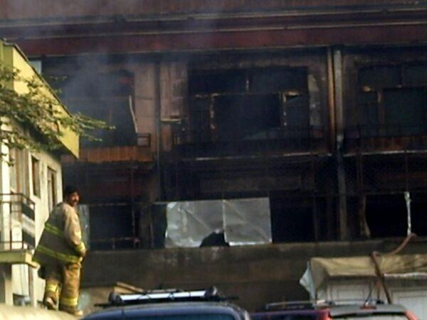 Гостиница ООН в Кабуле после штурма