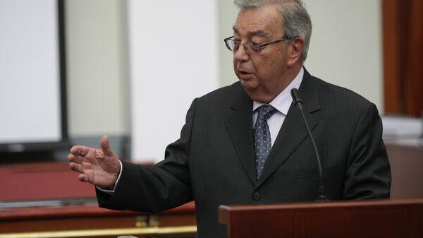 Евгений Примаков на заседании правления Торгово-промышленной палаты РФ в Москве