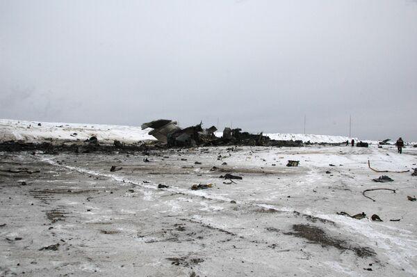 Крушение военно-транспортного самолета Ил-76 в Якутии