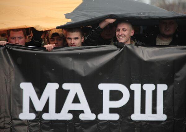 Акция националистов Русский марш в Москве