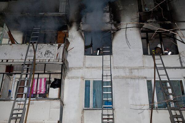Пожар в многоэтажке на востоке Москвы