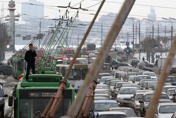 Автомобильные пробки в центре города