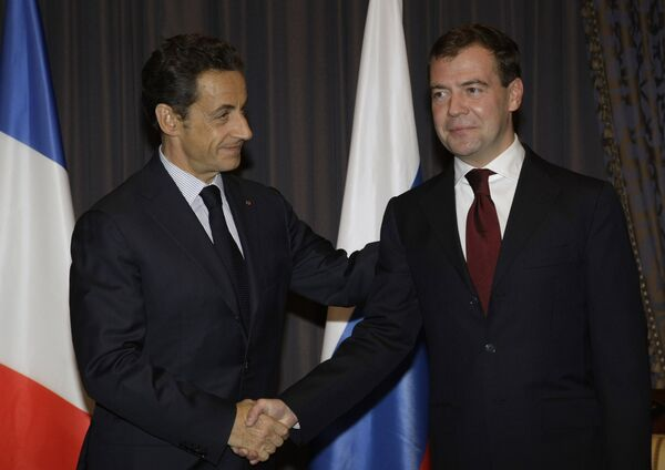 Дмитрий Медведев и Николя Саркози. Архив