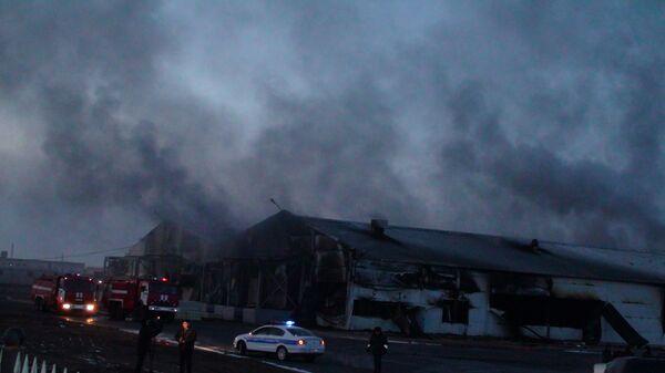 Пожар в Астане