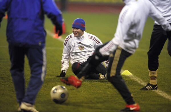 Открытая тренировка сборной России по футболу перед матчем со сборной Словении
