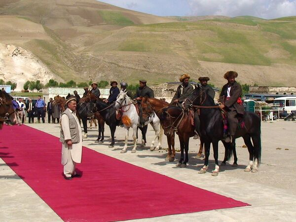 Игроки в Бузкаши в афганский провинции Бадахшан