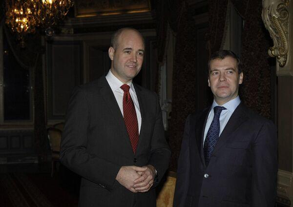 Президент РФ Д.Медведев прибыл в Швецию с официальным визитом