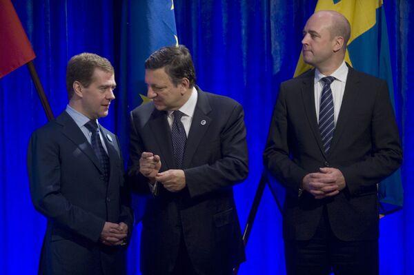 Президент РФ Д.Медведев на саммите РФ-ЕС в Стокгольме