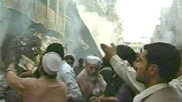На месте теракта в Пакистане. Архив