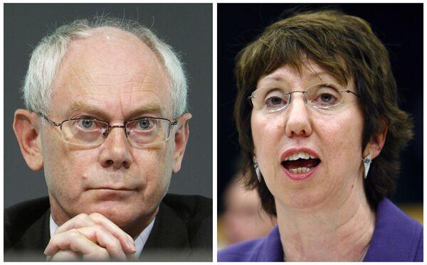 Херман Ван Ромпей избран первым президентом ЕС, Кэтрин Эштон стала главой европейской дипломатии
