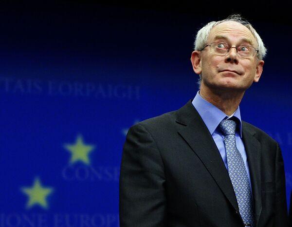Премьер Бельгии ван Ромпей избран президентом ЕС