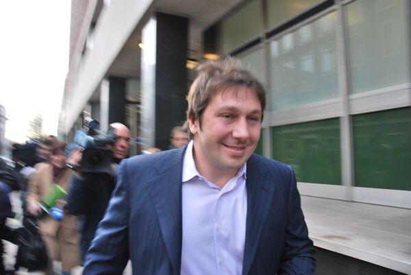 Евгений Чичваркин после заседания магистратского суда лондонского района Вестминстер