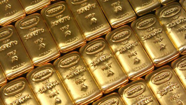 Слитки золота. Архив