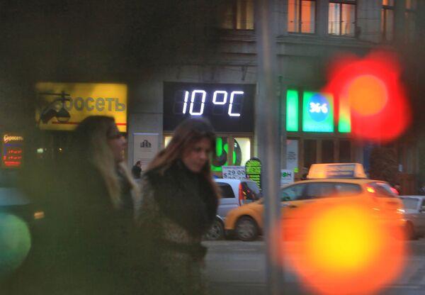 Аномальное тепло в Москве в декабре
