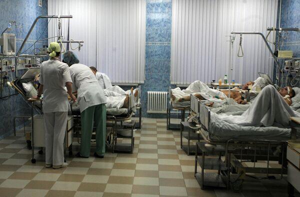 Пострадавшие в катастрофе поезда Невский экспресс в больнице РЖД