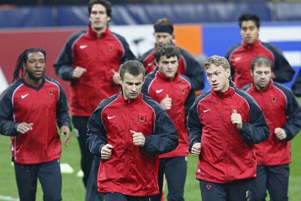 Открытая тренировка ФК Рубин перед матчем ЛЧ УЕФА с ФК Интер