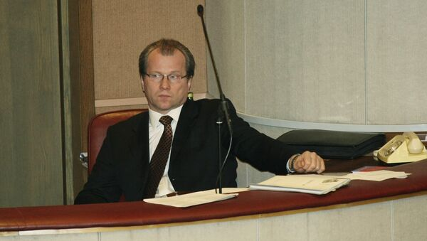 Гарри Минх на заседании Государственной Думы РФ