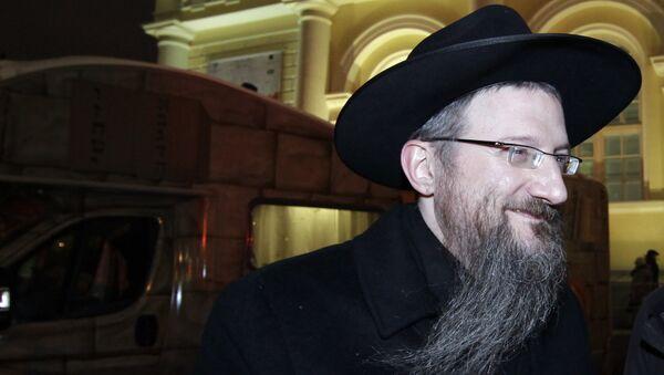 Берл Лазар на торжествах в честь еврейского праздника Ханука