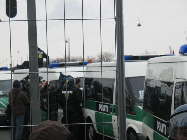 Более 100 участников протеста задержаны в Копенгагене