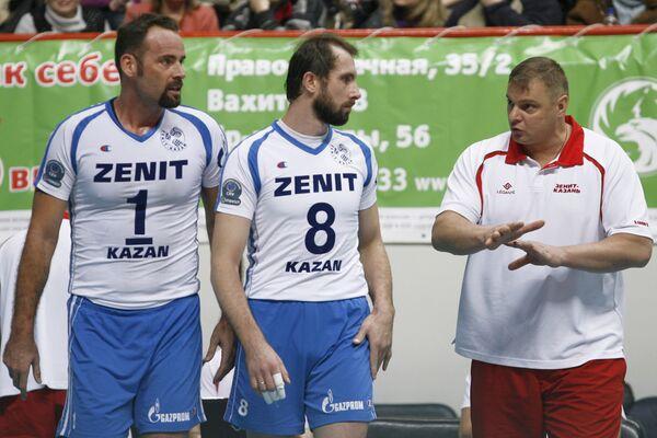 Ллой Болл, Сергей Тетюхин, Владимир Алекно (слева направо), Архив