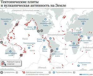 Тектонические плиты и вулканическая активность на Земле