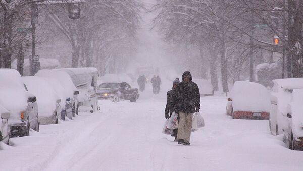 Снегопад в Вашингтоне. Архивное фото.