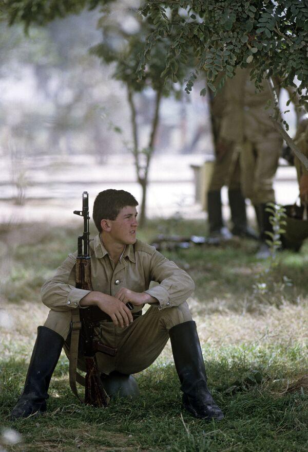 Солдат перед отправкой в СССР