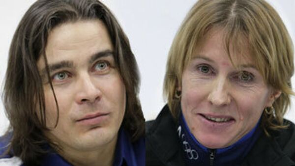 Альберт Демченко и Ольга Завьялова (справа налево)