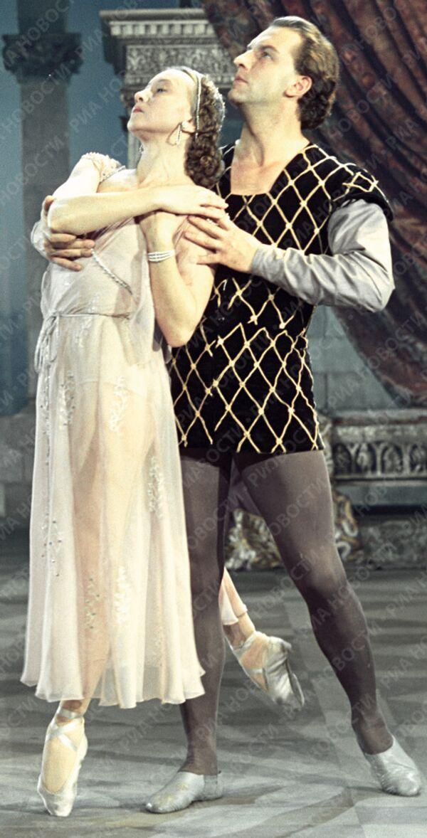 Уланова и Жданов в балете «Ромео и Джульетта»