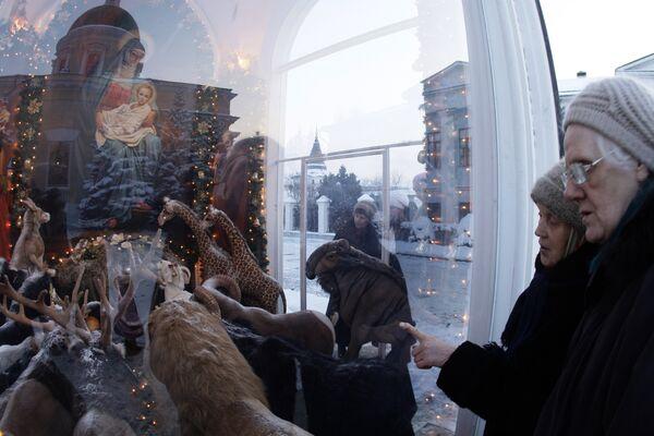 Рождественский вертеп в Свято-Даниловом монастыре в Москве